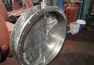 Клапан ПГВУ 292-80 Ду 1000 мм. из нержавеющей стали