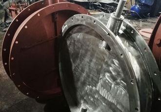 Клапана ПГВУ 292-80 круглые Ду 1000 мм.