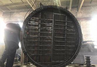 Сборка клапана ПГВУ 292-80 Ду 2400 мм.